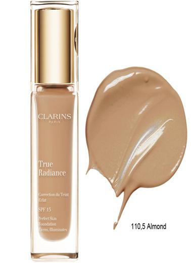 Clarins Clarins Fondöten - True Radiance Spf 15 110,5 Almond 30 ml Ten
